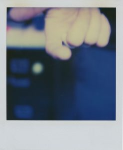 Polaroid color photograph.