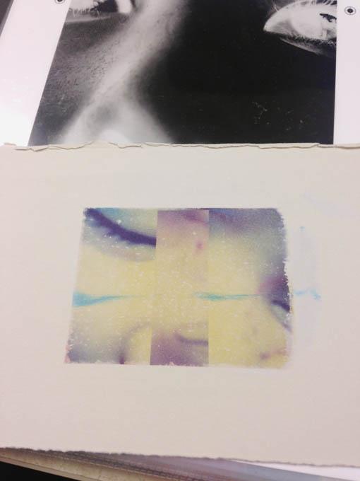 Polaroid transfer image.